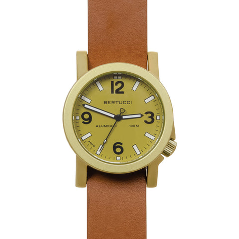 Bertucci A-6A Experior Field Watch | Khaki/Tan Leather Band 16508
