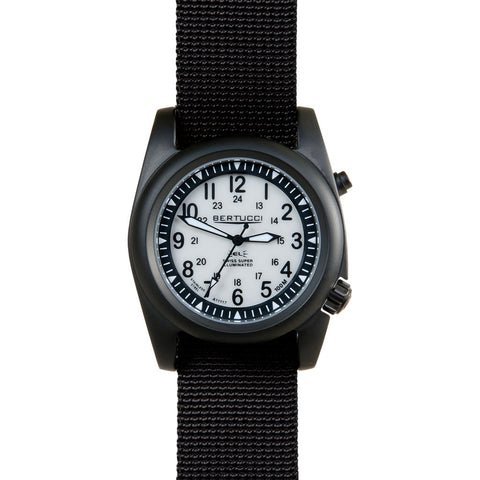 Bertucci A-2SEL Ghost Grey and Black PVD Watch | Black Band