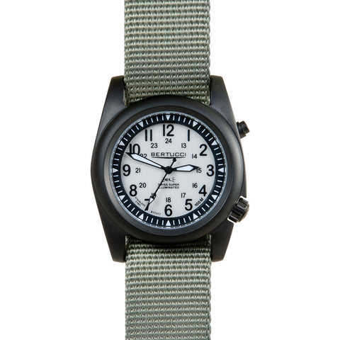 Bertucci A-2SEL Ghost Grey and Black PVD Watch | Defender Drab Band