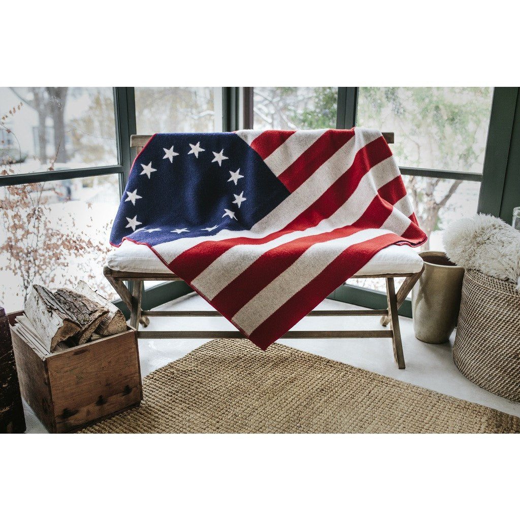 Faribault American Heritage Flag Wool Throw | 1776 7017 50x72