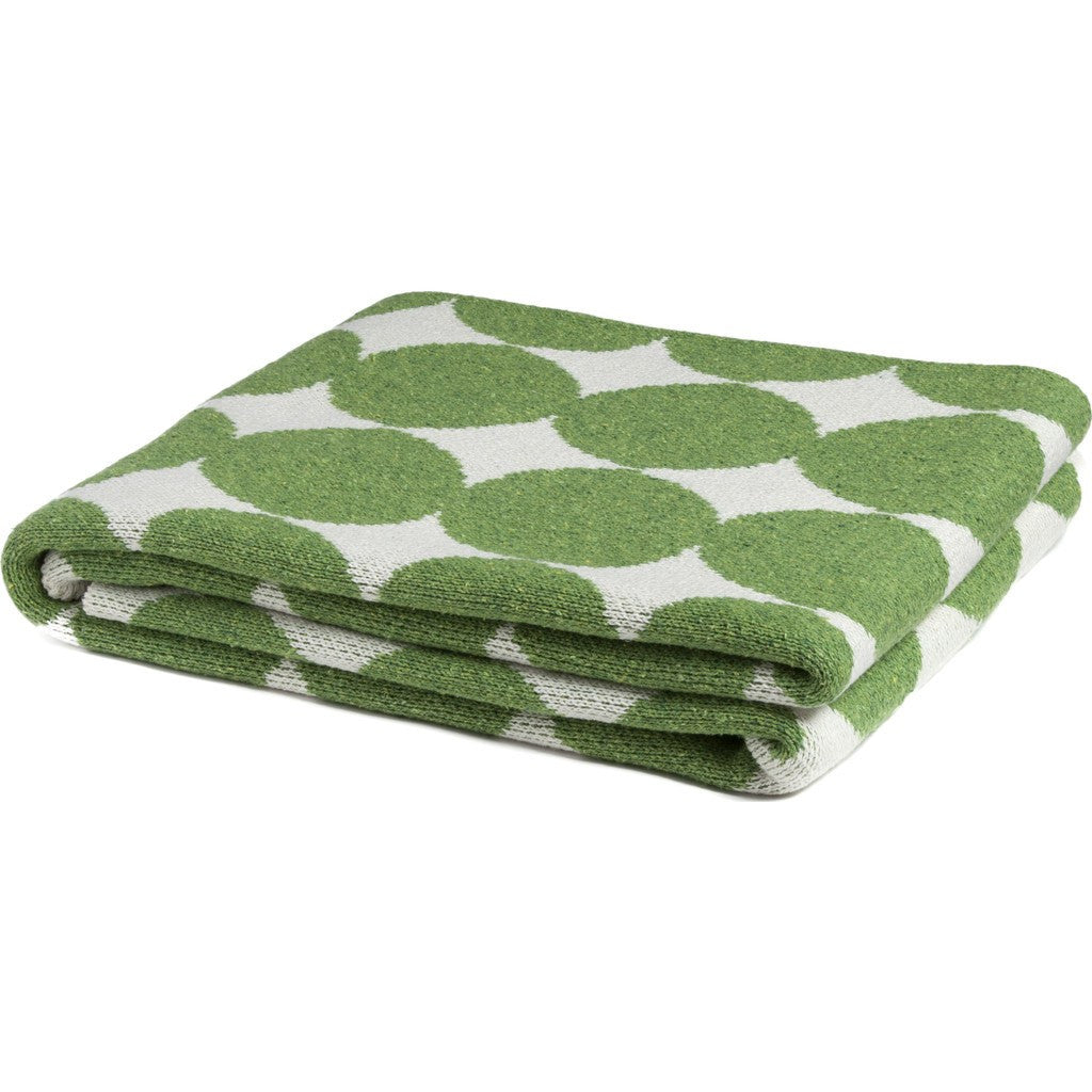 in2green Big Dots Eco Throw | Avocado BL01D7