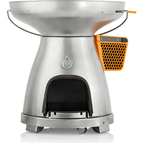 BioLite BaseCamp Multifunctional Portable Stove | Stainless Steel/Cast Iron BCA