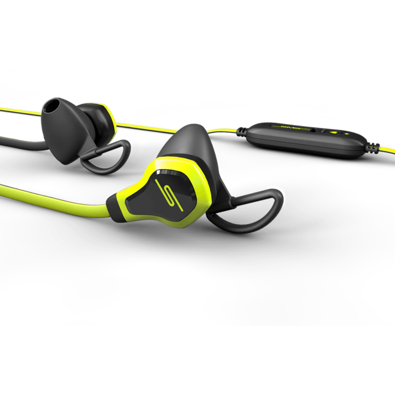 SMS Audio BioSport Biometric Earbuds with Intel HRM | Yellow