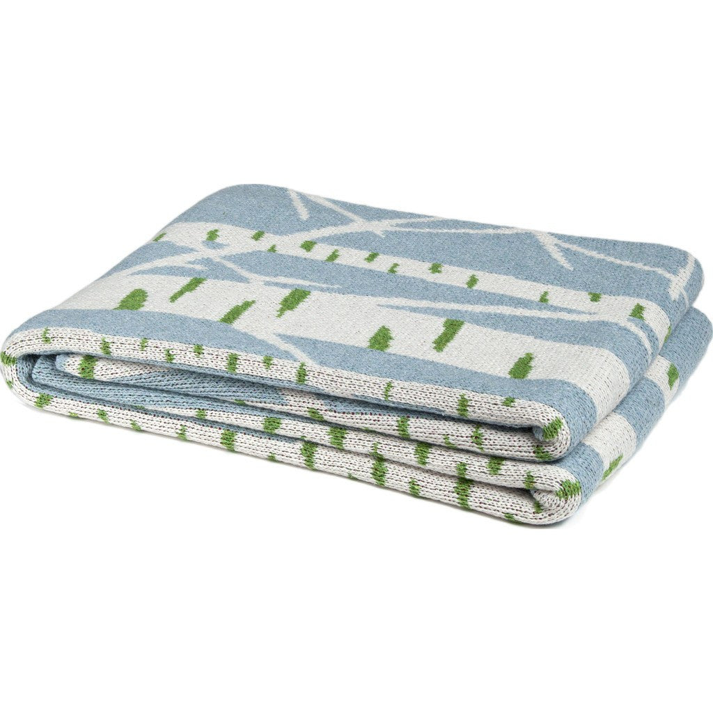 in2green Birch Tree Eco Throw | Blue Pond BL01BI2