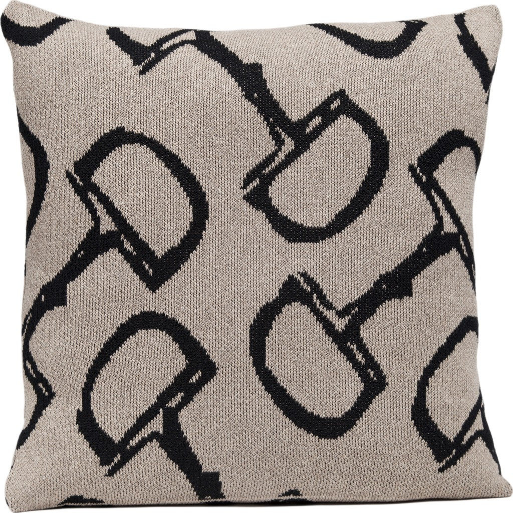 in2green Horse Bit Eco Pillow | Black/Hemp PL18BT1