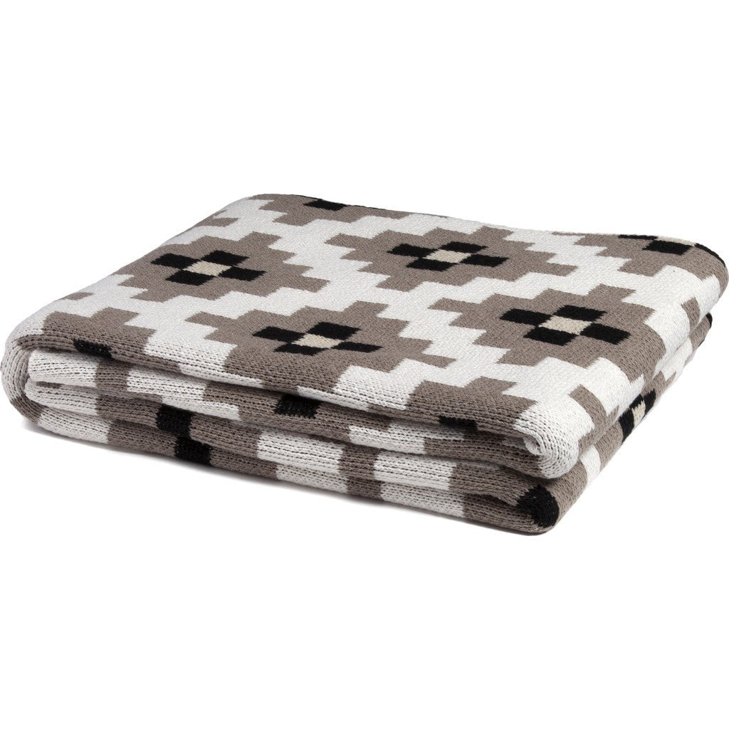 in2green Dot Matrix Eco Throw | Milk/Hemp/Black BL01DM2