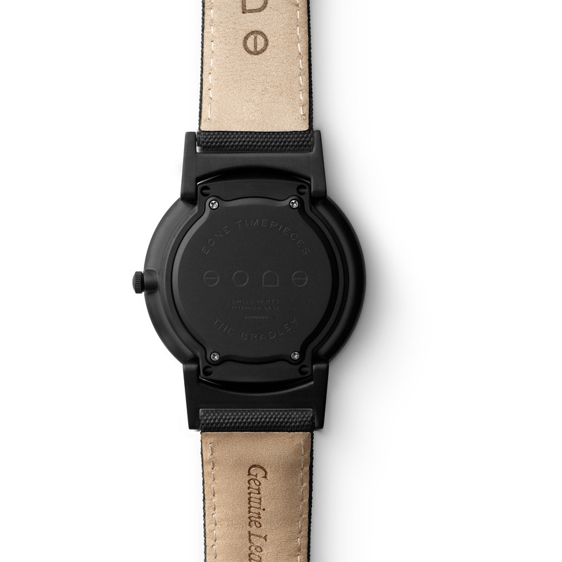 Eone Bradley Watch Black Ltd. | Black Canvas & Leather