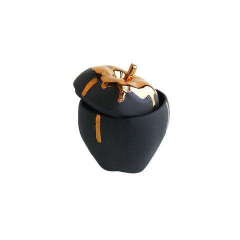 Michiko Shimada Apple Trinket Box | Gold/Black