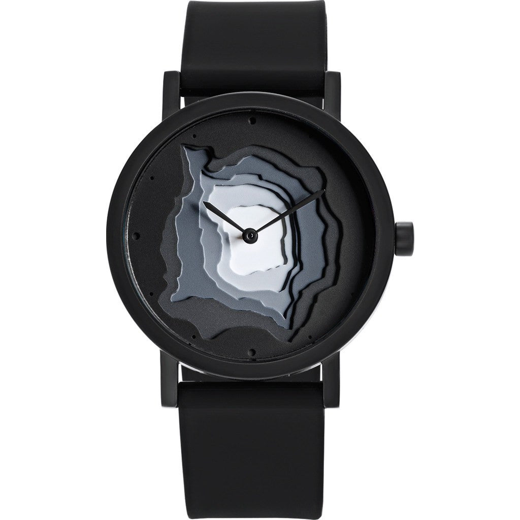 Projects Watches Terra-Time Watch | Black / Silicone Band 7301
