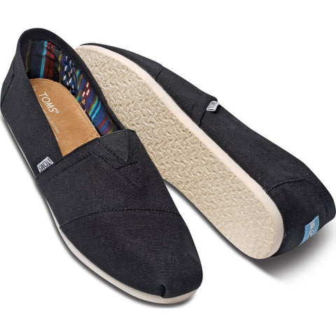 TOMS Men's Canvas Classic Slip Ons | Black