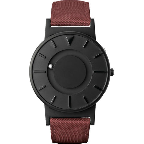 Eone Bradley Watch Black Ltd. | Crimson Canvas & Leather