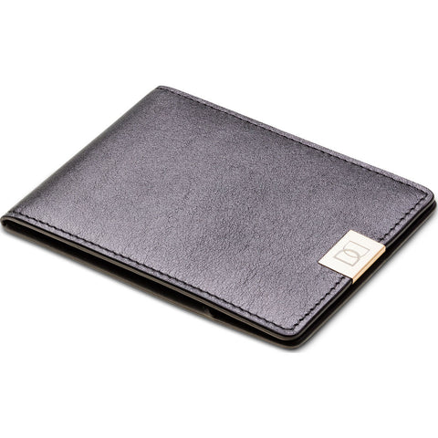 DUN Wallets Original Leather Bi-Fold Wallet| Black/Gold- DUN01BLG