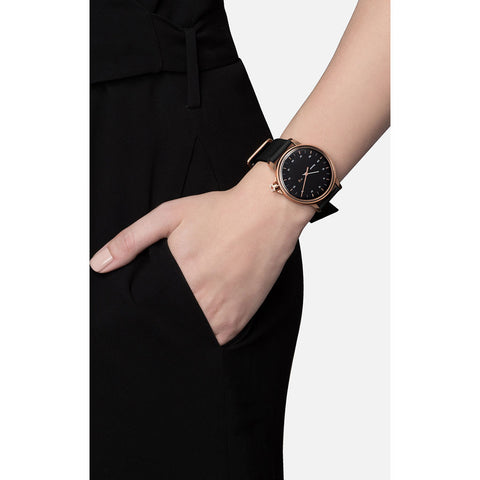 Miansai M12 Rose Gold Black Watch | Black Strap