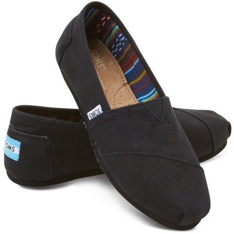 TOMS Canvas Classic Slip Ons | Black on Black