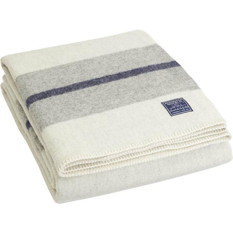 Faribault Scout Wool Twin Blanket | Heather Gray B3SCGY1243