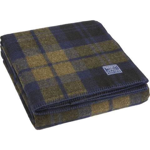Faribault Foot Soldier Military Wool Blanket/Throw | Shadow Plaid