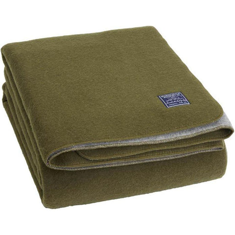 Faribault Summit Solid Reversible Blanket | Heather Gray B3DFGY1642