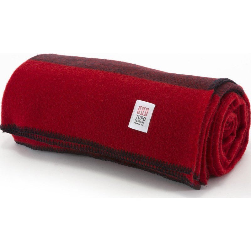 Topo Designs Wool Camp Blanket | Red