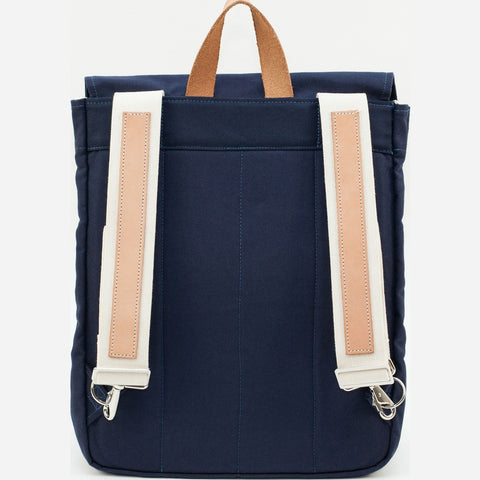Blk Pine Classic Canvas Canoe Pack Backpack | Navy