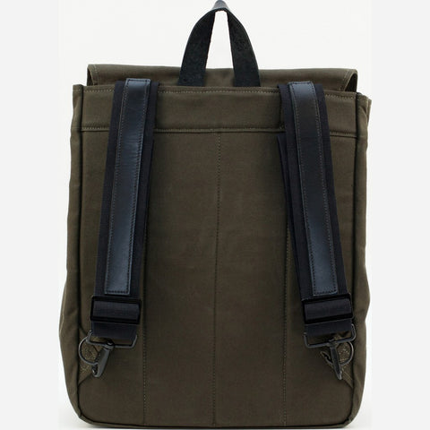 Blk Pine Classic Canvas Canoe Pack Backpack | Olive