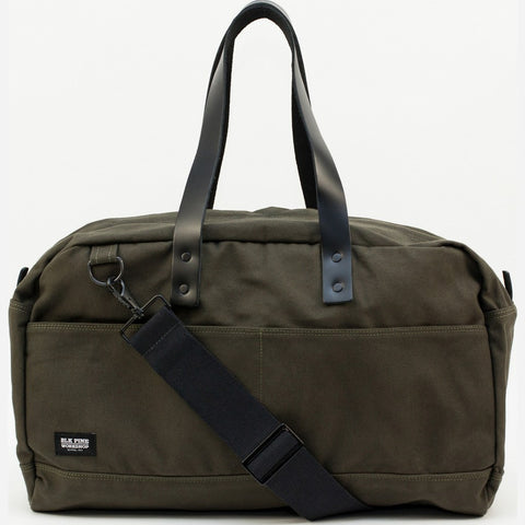 Blk Pine Classic Canvas Weekender Duffel Bag | Olive