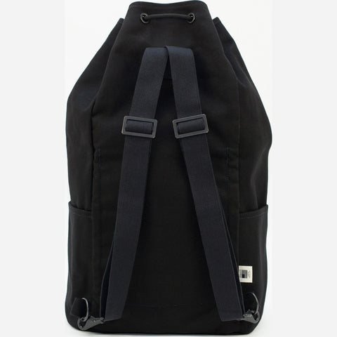 Blk Pine Canvas Utility Cinch Pack Backpack | Black