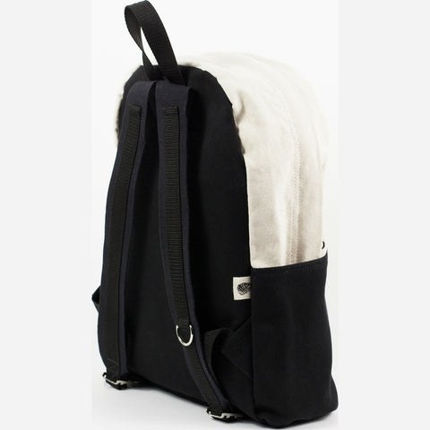 Blk Pine Canvas Utility Daypack Backpack | Natural/Black