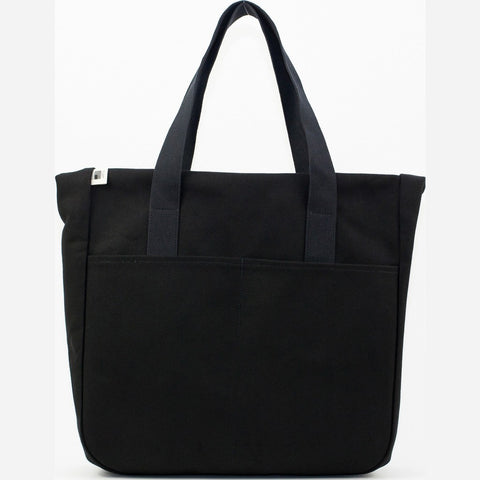 Blk Pine Classic Canvas Tall Utility Tote Bag | Black