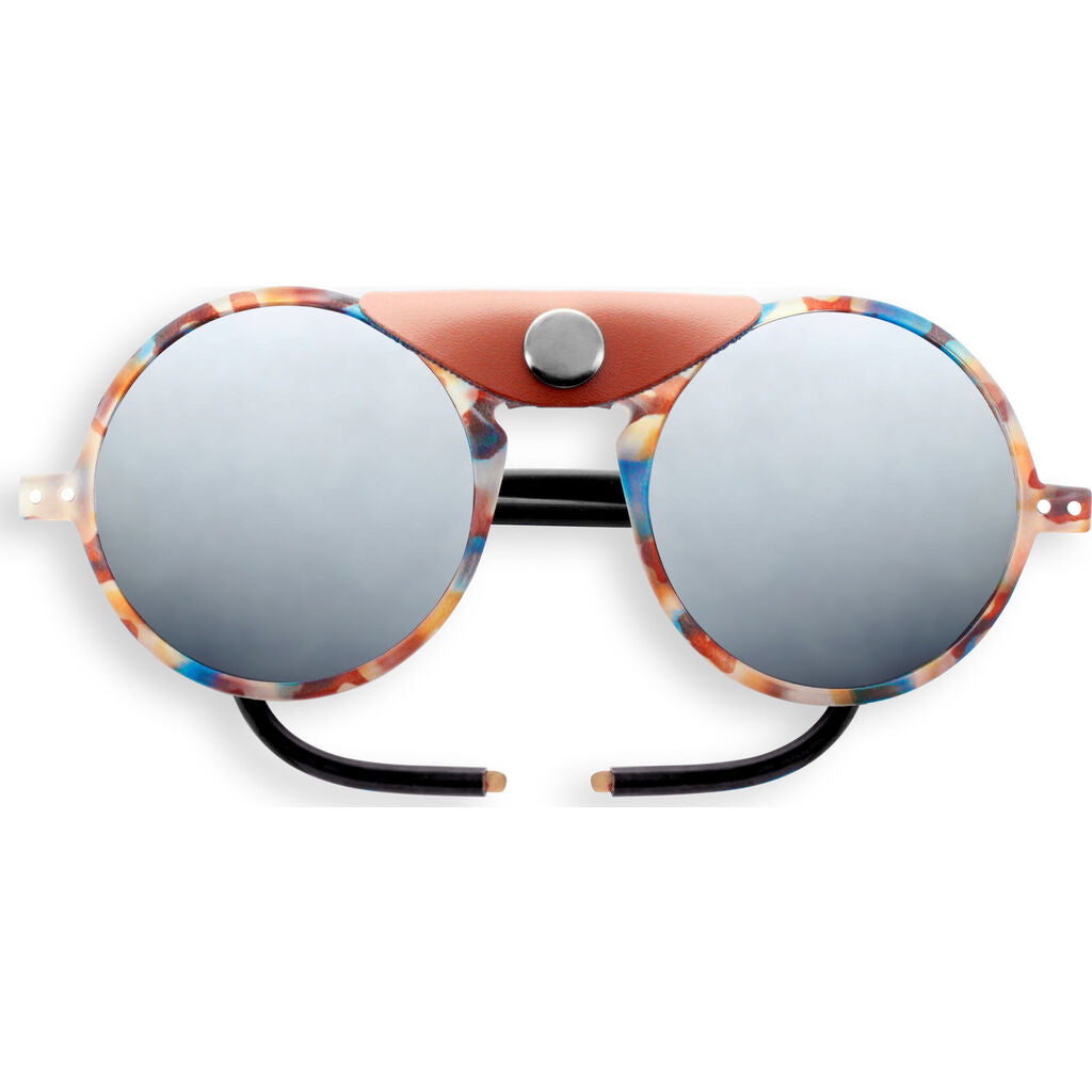 Izipizi Glacier Sunglasses | Blue Tortoise With Brown Shields