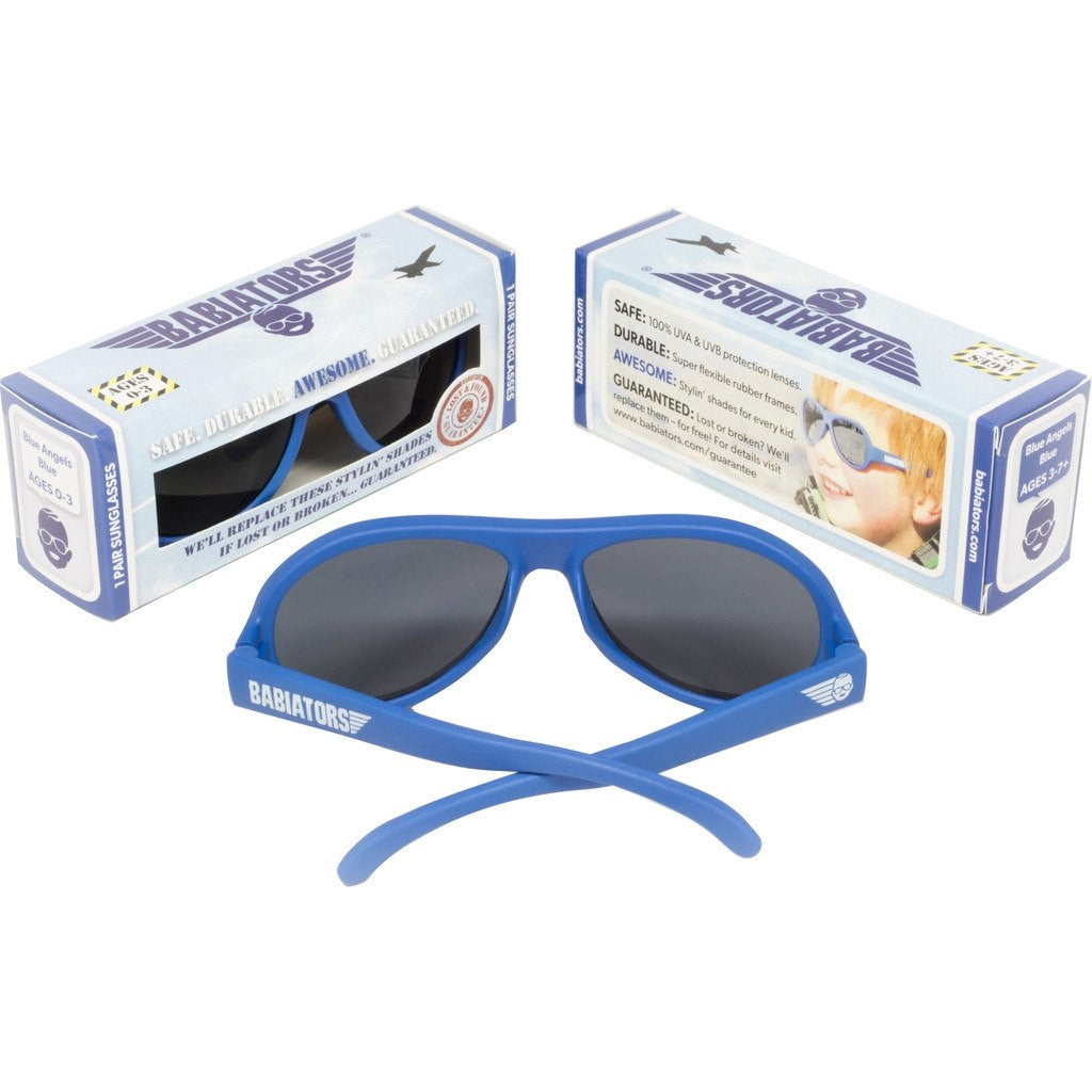 Babiators Blue Angels Sunglasses | Ages 0-3 001CH-011112 / Ages 3-7+ 001CH-011112
