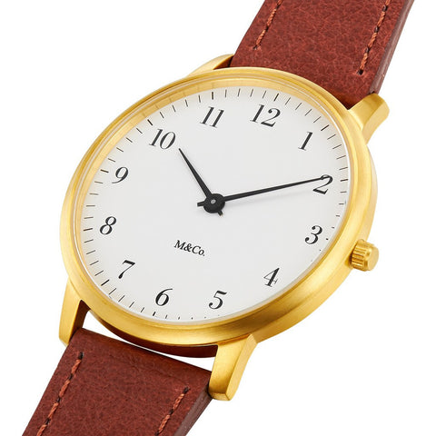 Projects Watches Bodoni 40mm Watch | Brass/Brown 7401BRBR40