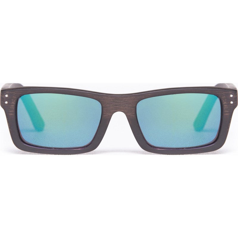 Proof Boise Wood Ebony Sunglasses | Kush Mirrored Lens
