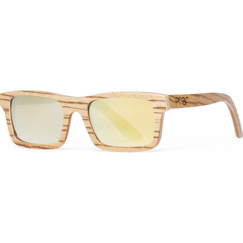 Proof Boise Wood Zebra Sunglasses | Gold Lens