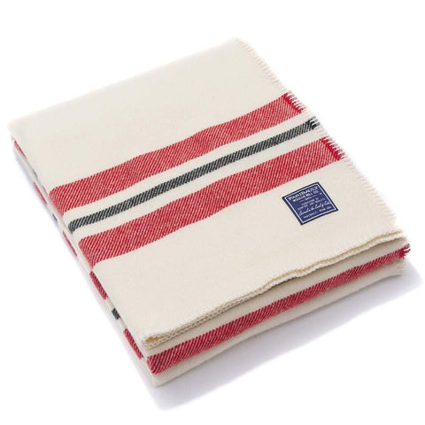 Faribault Cabin Throw | Bone White/Red