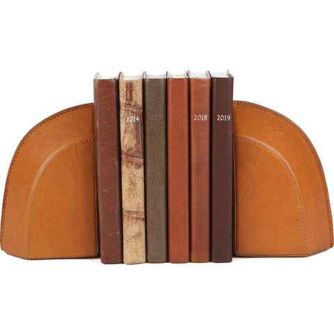 Moore & Giles Leather Bookends | Modern Saddle