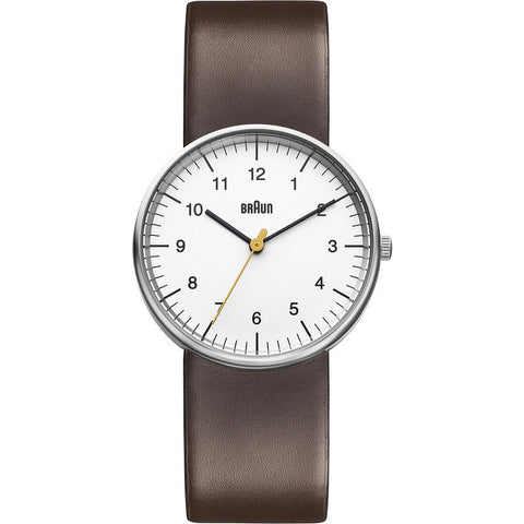 Braun BN0021 White Classic Analog Men's Watch | Leather BN0021WHBRG
