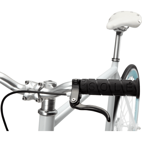 Sole Bicycles Breakwater Fixed Single Speed Bike | White Frame/Seafoam Green Rims Sole 062-49