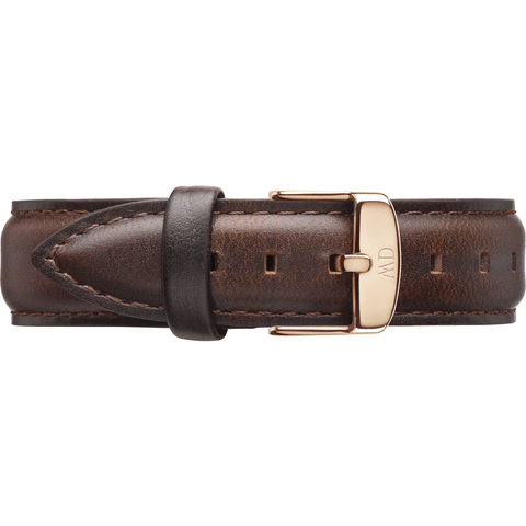 Daniel Wellington Classic Bristol Brown Leather Women's Wristband | Rose 0711DW