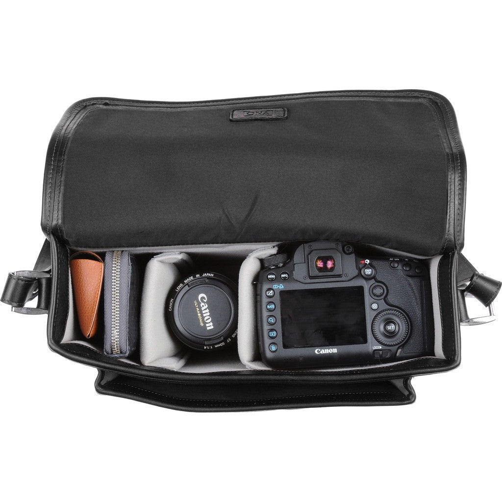 ONA Brooklyn Camera Messenger Bag | Black ONA007BL