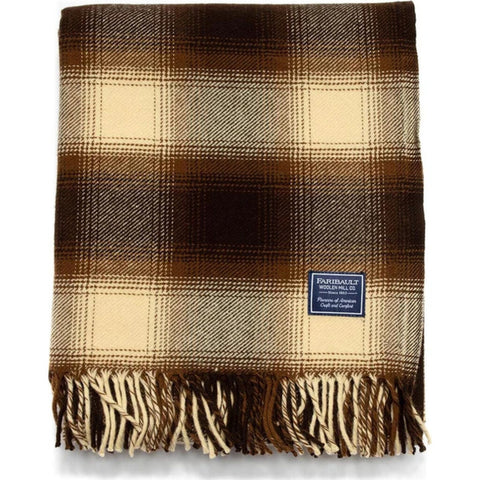 Faribault Ombre Plaid Throw | Wool
