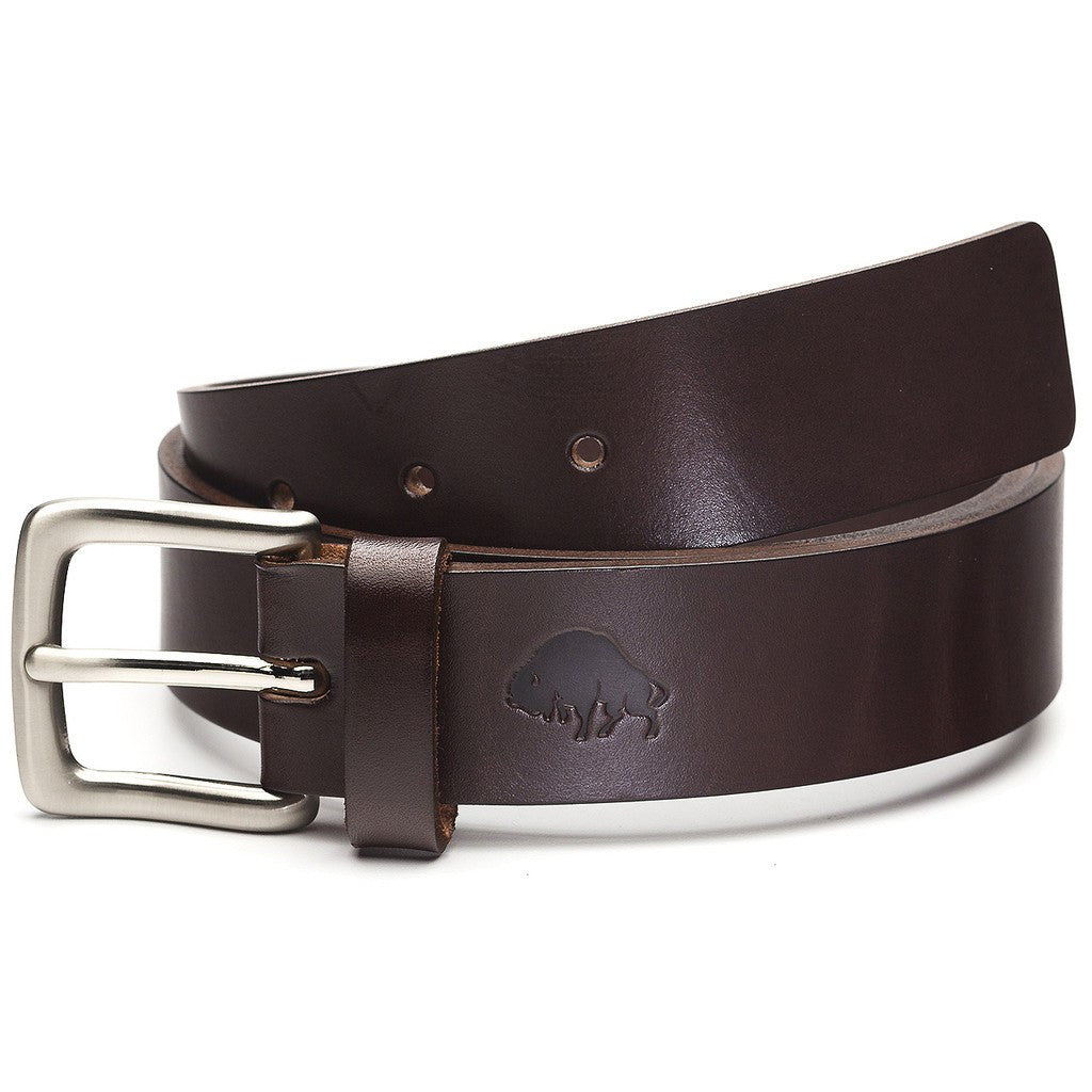 Ezra Arthur No. 1 Belt | Brown/Nickle Buckle Sizes 32-42 CBT121N