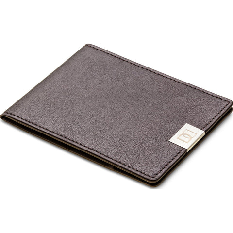 DUN Wallets Original Leather Bi-Fold Wallet  | Brown/Silver- DUN01BRS