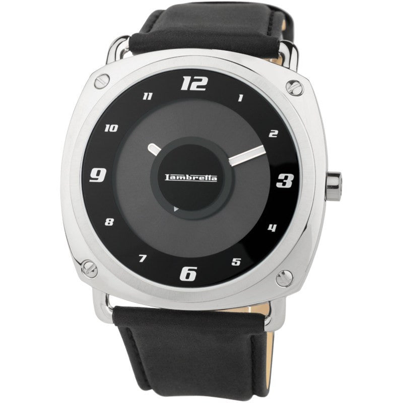 Lambretta Brunori Watch | Leather Black 2074BLA