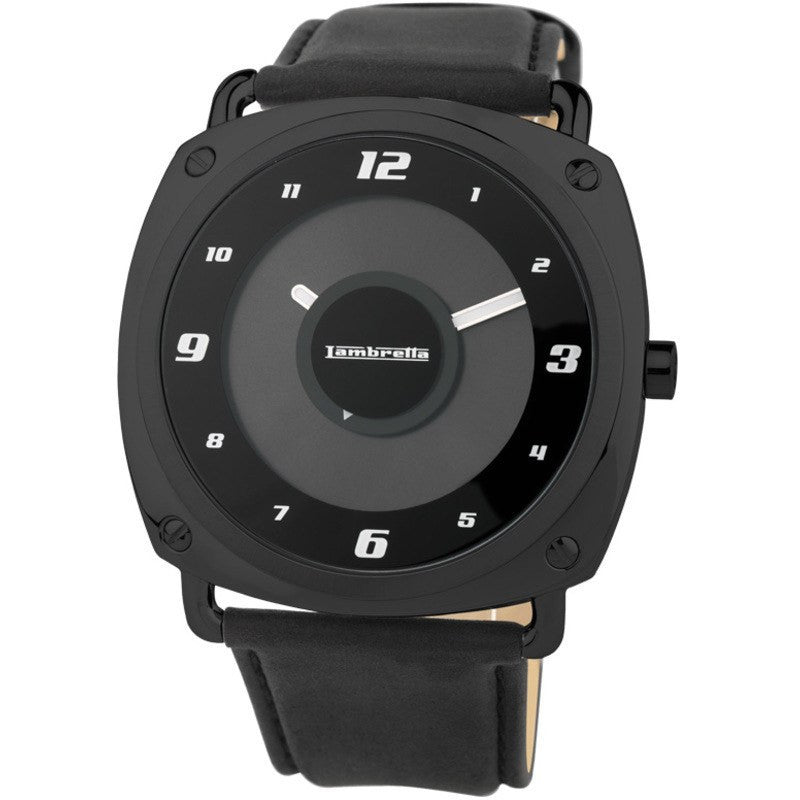 Lambretta Brunori Black Watch | Leather Black 2089BLA