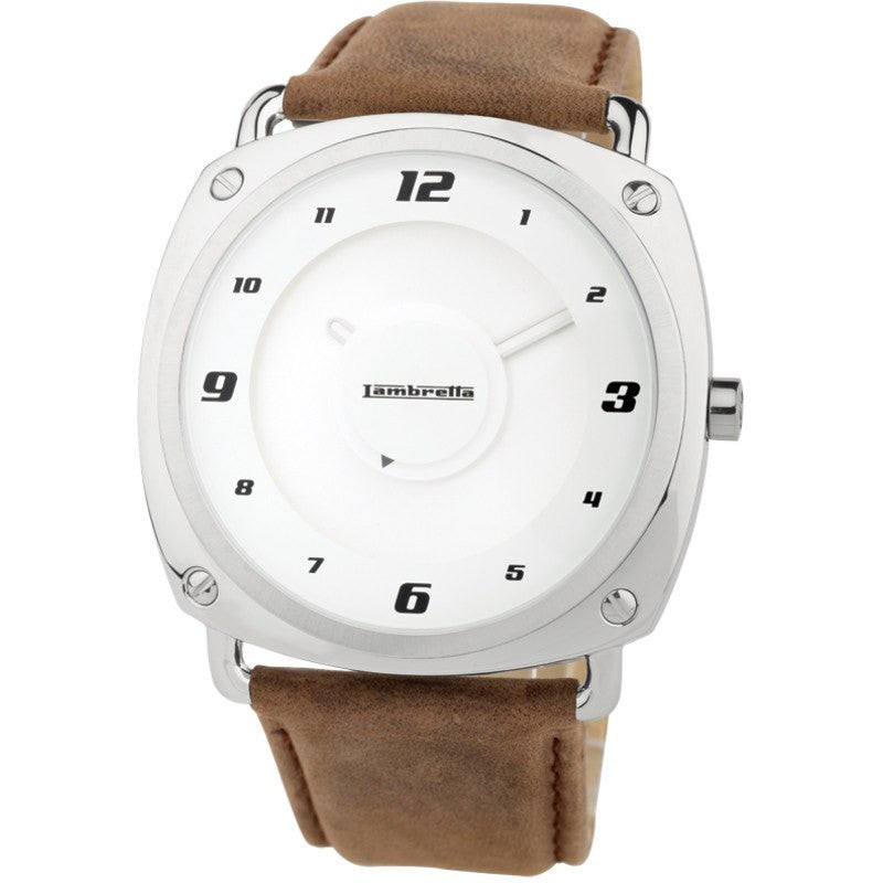 Lambretta Brunori Watch | Leather Brown 2074BRO