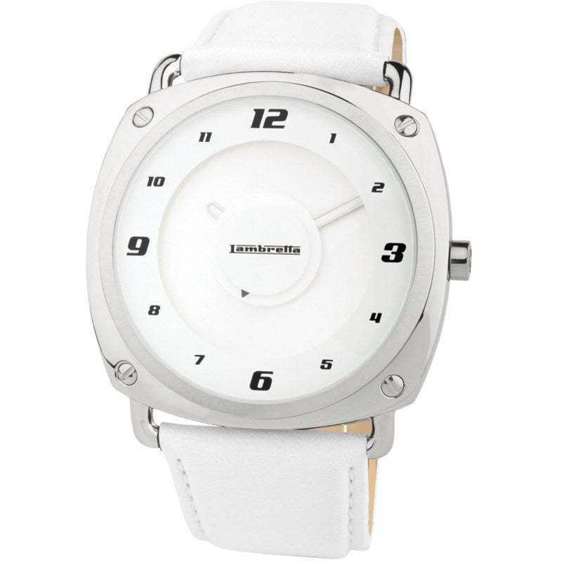 Lambretta Brunori Watch | Leather White 2074WHI