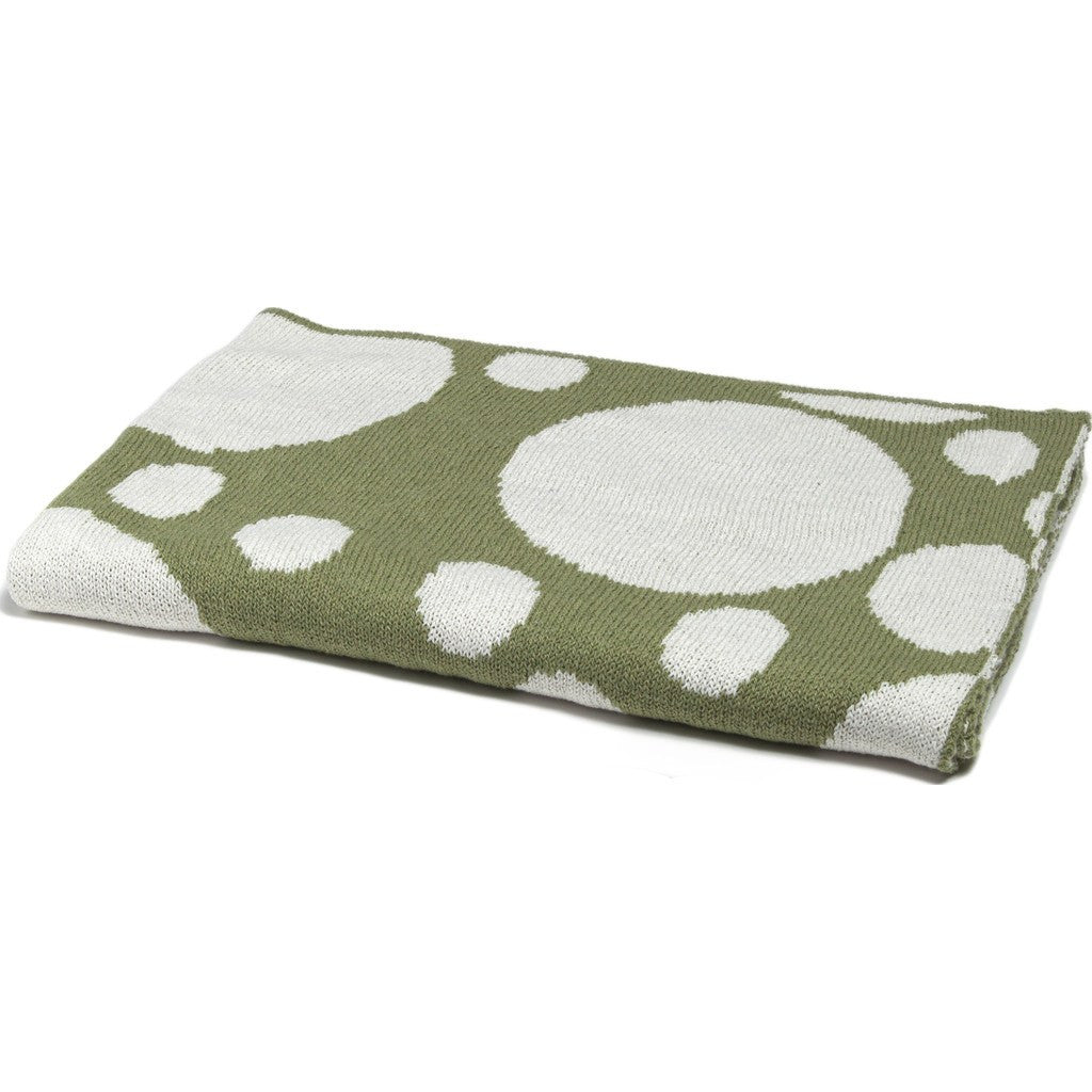 in2green Baby Bubbles Reversible Eco Throw | Apple Green BB02BU1
