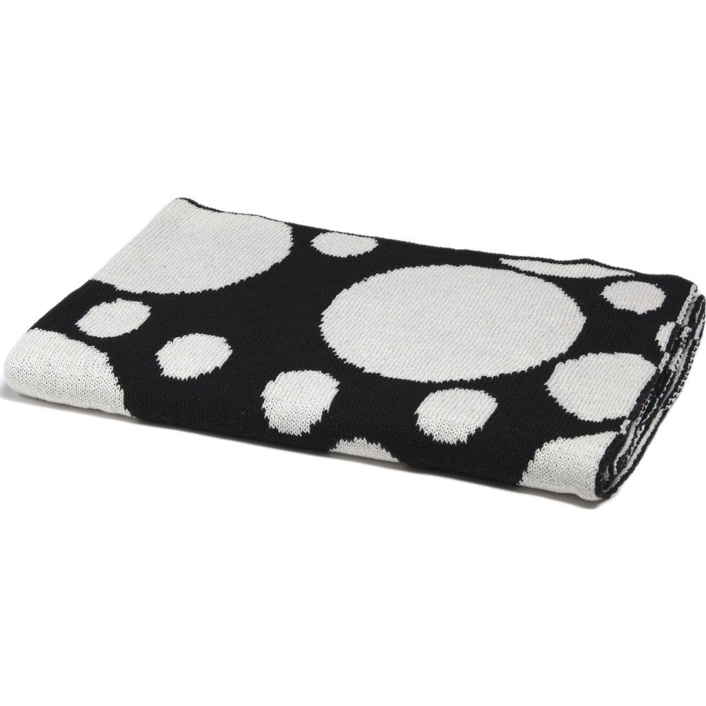 in2green Baby Bubbles Reversible Eco Throw | Black BB02BU2