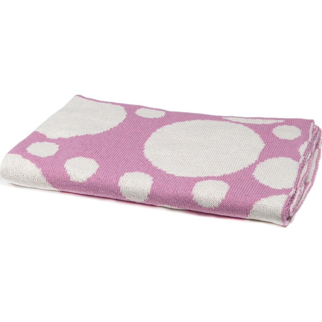 in2green Baby Bubbles Reversible Eco Throw | Petal Pink BB02BU4