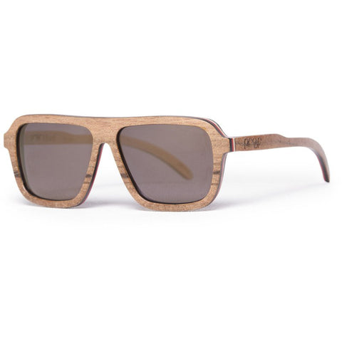 Proof Bud Skate Sunglasses | Walnut Gold Lens